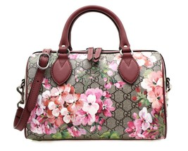 Gucci Blooms GG Supreme Boston Shoulder Bag New - $990.00
