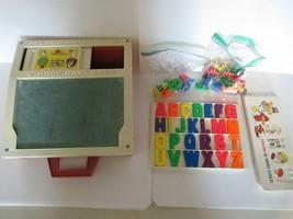 Vintage 1972 Fisher Price Toys School Days Schreibtisch Karten Magnete - $15.87