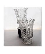 Block Candle Stick Holders 1 Pair 24% Full Lead Crystal Pedestal Tulip H... - $29.99
