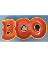 Halloween Ghost BOO Trick-Or-Treat Candy Dish Hallmark Orange Black - $29.99