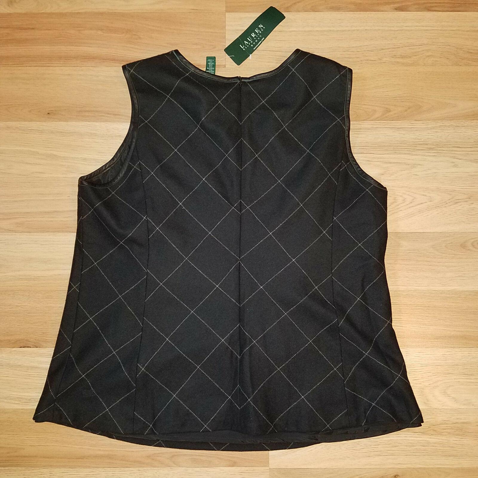 new RALPH LAUREN women sweater vest black 16W - MSRP $185 image 8