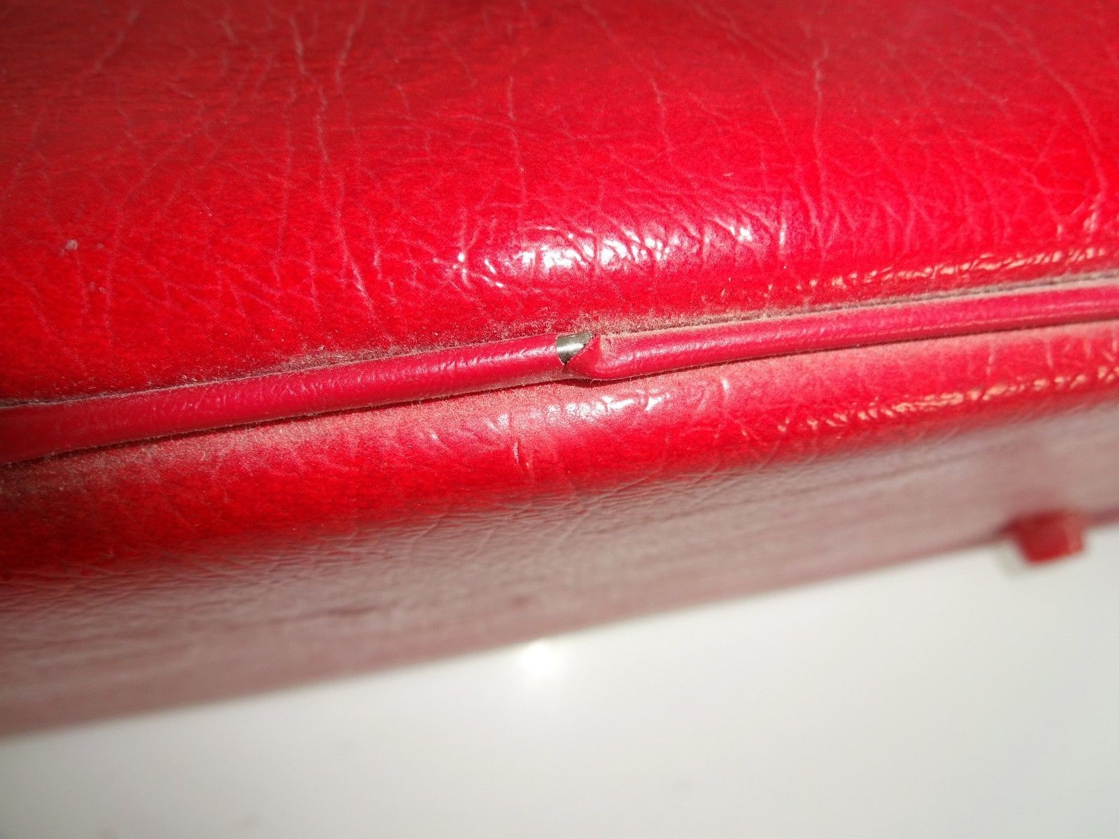 Vintage Red American Tourister ? Style Soft Carry On Luggage Train Bag Suitcase