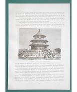 CHINA Views in Peking Beijing - (11) Eleven 1883 Woodcut Illustrations - $11.21