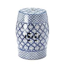 Ceramic Stool, Garden Decorative Round Blue And White Ceramic Stool - $106.19
