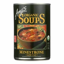Amy's - Organic Low Fat Minestrone Soup - Case Of 12 - 14.1 Oz - $60.96