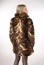 Brown Sable Fur Coat Sectional size Large US 12 EU 42  Genuine Sable 100% image 6
