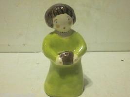 VINTAGE 1954 PORCELAIN CERAMIC ALICE JUDY WOMAN HOLDING CAKE FIGURINE - $9.99