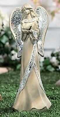 """16"""" GARDEN ANGEL with Mosaic Glass Wings NRFB"""