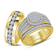 Thanksgiving Festival Offer, 925 Pure Silver Simulated Diamond Trio Ring Set - $154.99