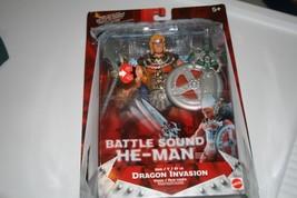 "Masters of the Universe Electronic Battle Sound 6"" He-Man w\ Dragon Inva... - $16.69"