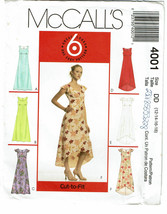 McCALLS 6 GREAT LOOKS PATTERN 4001 MISSES PETIT... - $4.00