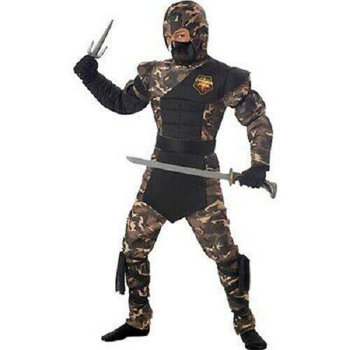 Bambini Speciale Ops Ninja Karate Militare Costume Halloween S-L 00326