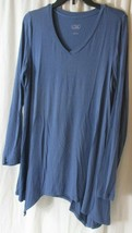 LOGO Layers by Lori Goldstein, Size Large, Blue Long Sleeve Top A279442 - $16.82