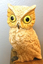 "White Handpainted Ceramic Owl 6"" No ID - $15.00"