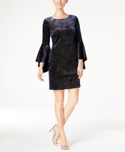 Jessica Howard Bell-Sleeve Sparkle Dress NAVY  SILVER SIZE 6 - €22,61 EUR