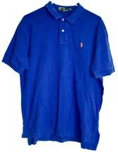 Polo by Ralph Lauren Royal Blue w Orange Pony Cotton Short Sleeve Shirt Size L