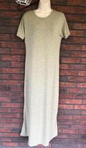 Lularoe Jessie Stretch Dress Small Green Scoop Neck Swing Style Short Sleeve Max - $19.60