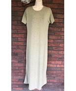 Lularoe Jessie Stretch Dress Small Green Scoop Neck Swing Style Short Sl... - $19.60