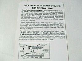 Micro-Trains Stock # 00302240 (1180) Buckeye Roller Bearing 6-Wheel Trucks (N) image 3