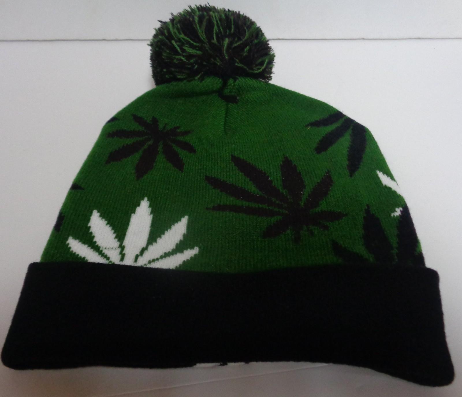 Marijuana Leaf Beanie Pot Hat Kush NWT Free Shipping