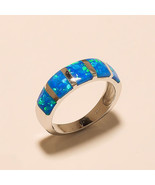 925 Sterling silver Natural Rainbow Fire opal Gemstone Jewelry Men's Rin... - $20.56