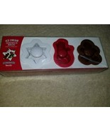 New Tovolo Ice Cream Sandwich Molds Holiday Christmas Winter  - $15.83