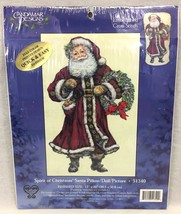 Candamar Designs Spirit Of Christmas Santa Pillow Picture Cross Stitch K... - $18.95