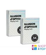 2 Illusion D'Optique Decks Spielkarten Art of Play Magisch Tricks Poker ... - $62.81