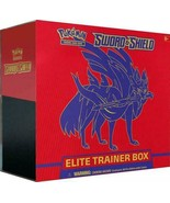 Pokemon Sword and Shield Elite Trainer Box Zacian Red Sealed 10 Booster ... - $40.95