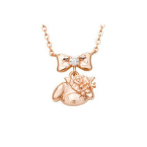 White Clover x Sanrio My Melody Necklace Silver925 Pink Gold Coating NEW Gift - $145.04