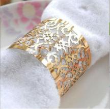 150pcs Metallic Paper Laser Cut Napkin Rings,Wedding Favors,Table Decorations - $51.00