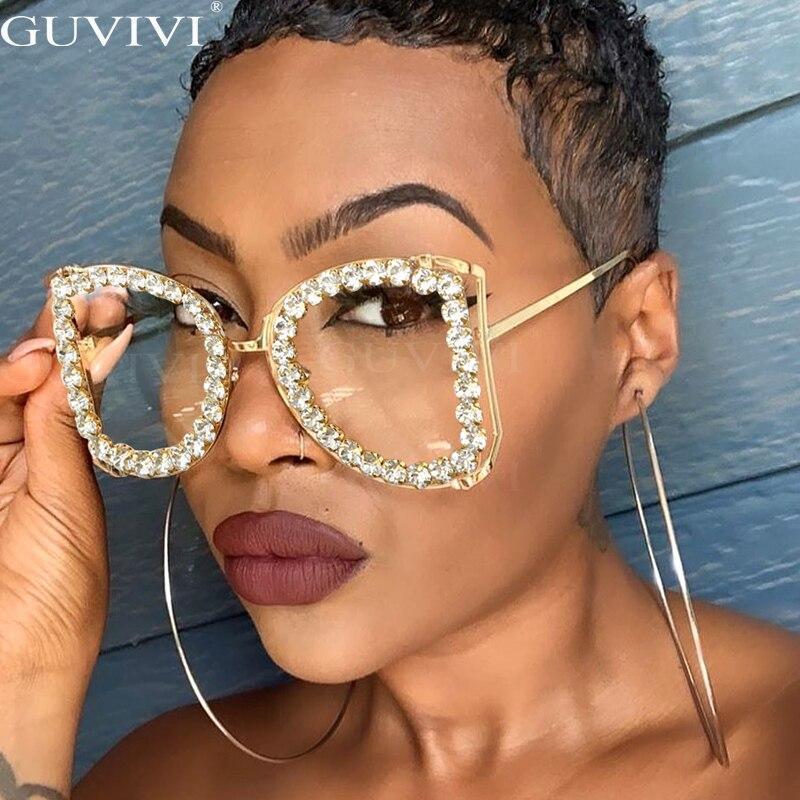 Glasses women 2020 luxury brand designer sunglasses men retro rhinestone glasses cat eye eyewear