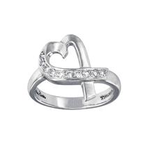 Tiffany & Co. Paloma Picasso Diamond Gold Loving Heart Ring - $650.00