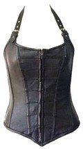 Vance Leather Ladies Zip Front Corset with Removable Halter Straps - $107.95