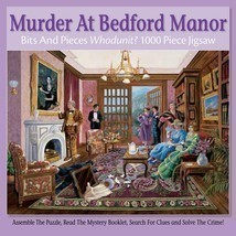 """Mystery Puzzle 20"""" x 27"""" Bits And Pieces Puzzle 1000 Murder At Bedford Manor - $9.49"""