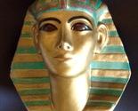 1920s Attila's Signed Egyptian Lifesize Funerary Mask Plaster Bust Figurine