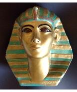 1920s Attila's Signed Egyptian Lifesize Funerary Mask Plaster Bust Figur... - $2,999.95