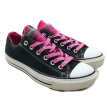 CONVERSE All Star Black Pink Laces Tulle Shimmer Sneakers Womens 8 / Mens 6 - $28.70