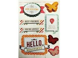 BasicGrey Layered Sticker Set #KNE4179, Friends, Friendship
