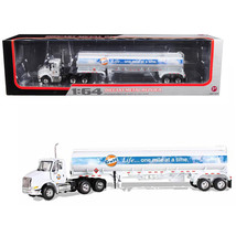 International 8600 GULF with 42 Fuel Tank Trailer 1/64 Diecast Model by First Ge - $83.88