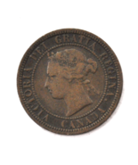 1901 1c Canada Large One Cent Penny KM#7  Bronze  - $9.89