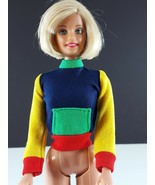 Barbie Multicolor Knit Top Blue, Yellow, Red, Green Clone 1960s Clothing - $11.87