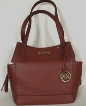 New Michael Kors Ashbury Large Grab Bag Tote Pebble Leather Brick - $139.00