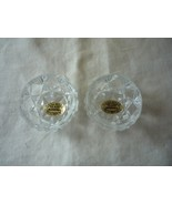 Vintage hand made Bohemia glass salt cellars/dipping Czech Republic (two) - $8.00