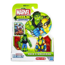 Marvel Playskool Super Hero Adventures Mini Figure 2-Pack Hulk & Wolverine - $43.53