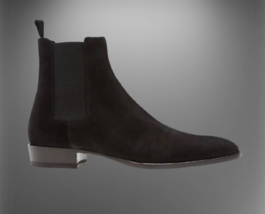 Handmade Men Suede HighAnkle Chelsea Boots image 6