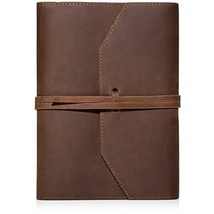 Refillable Soft Leather Bound Journal Lined Sheets Notebook Horse Organi... - $39.54