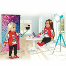 """My Life As Vlogger 20 Piece Accessories Play Set for 18"""" Doll Gray/Teal Age 5+ - $38.99"""