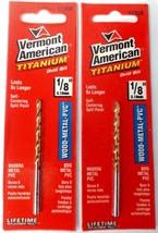 """Vermont American 12358 1/8"""" Titanium Drill Bit 2PKS - $2.97"""