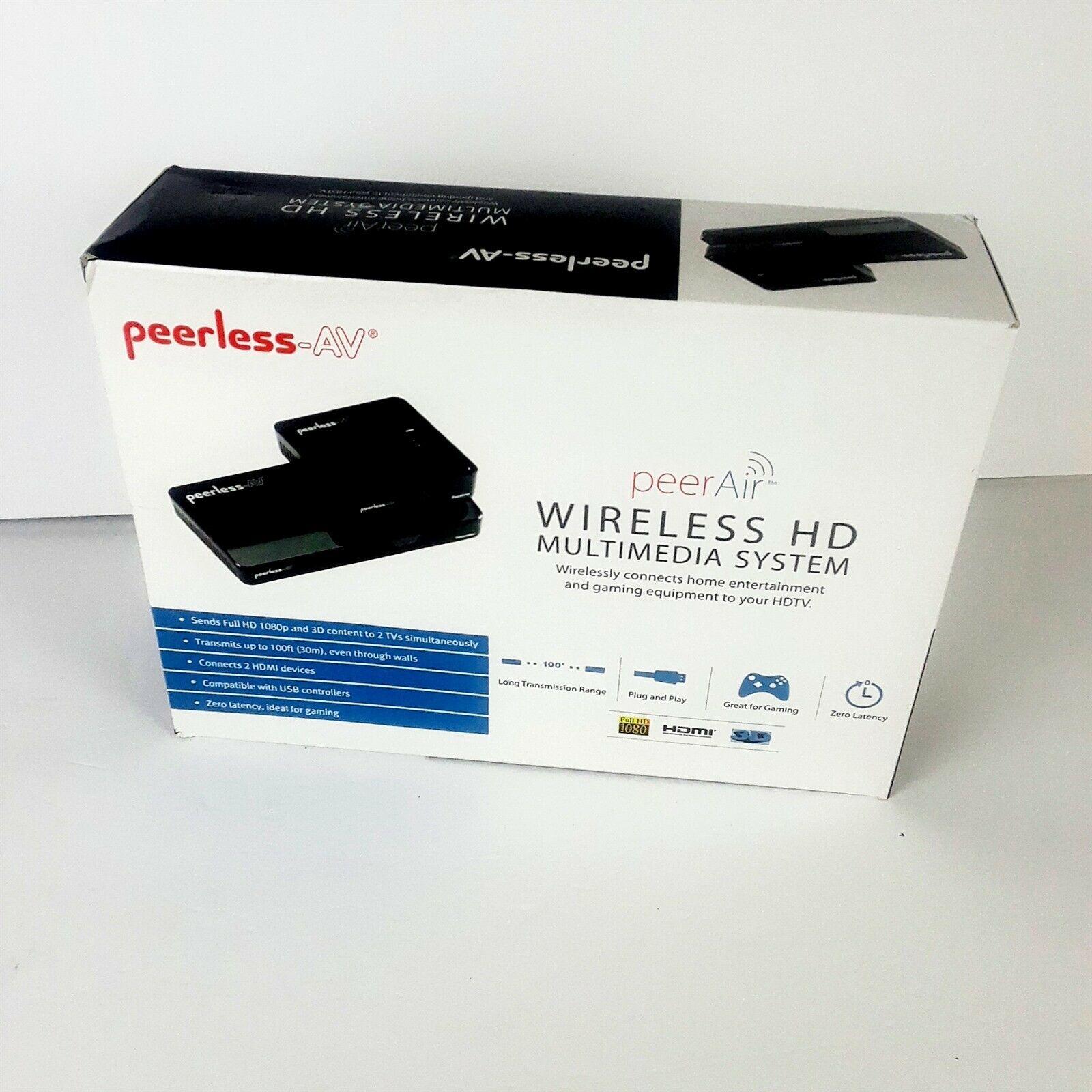 Peerless HDS-WHDI100 PeerAir Wireless HD Multimedia System, Gloss Black